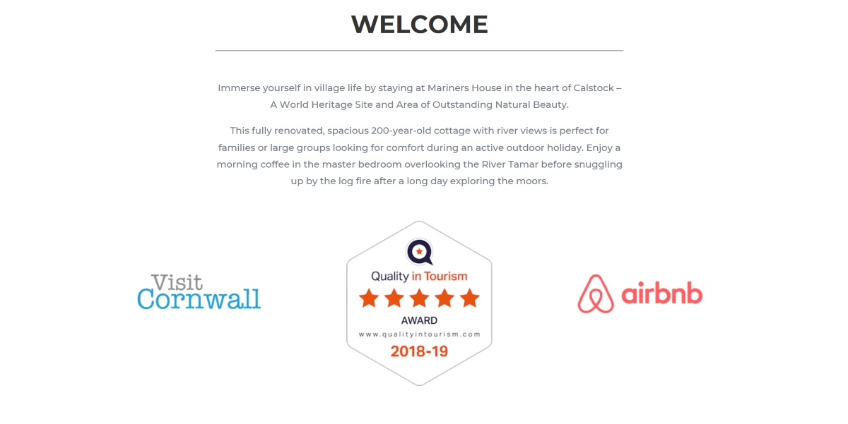 Mariners House Homepage