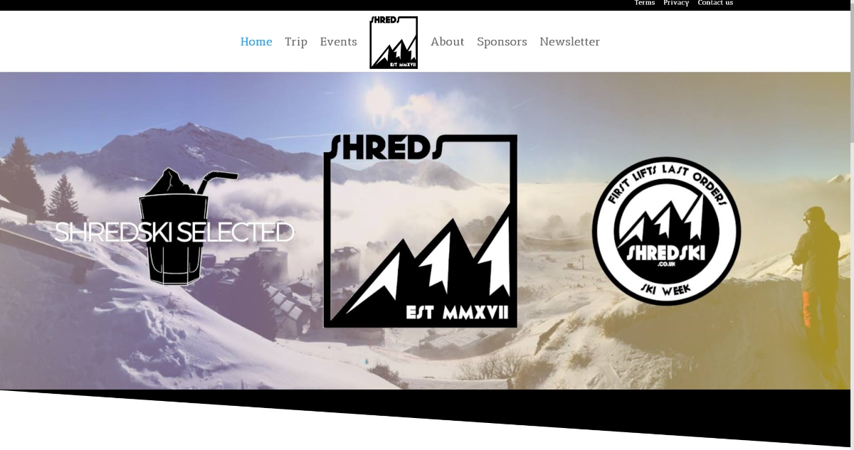 Shred Ski Website