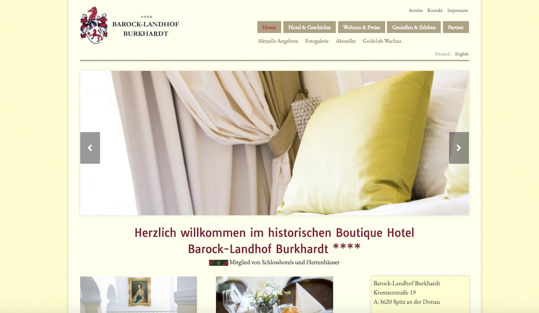 Barock-Landhof Burkhardt Hotel Old Website