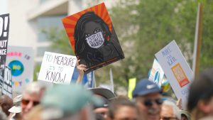 Banners at climate march